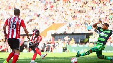 Southampton forward Sadio Mane finds the bottom corner to make it 3-0 to Southampton
