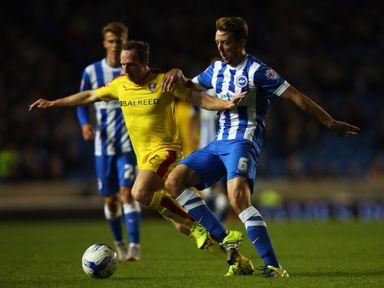 Dale Stephens (r): Kept Brighton's unbeaten start going