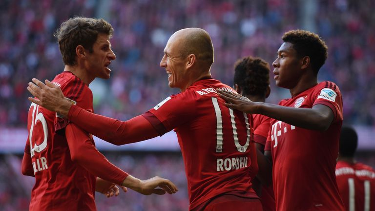 Thomas Muller, Arjen Robben and David Alaba have starred under Guardiola