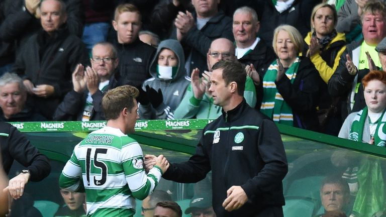 Three days after his angry reaction in Norway, Commons and Deila were much happier again