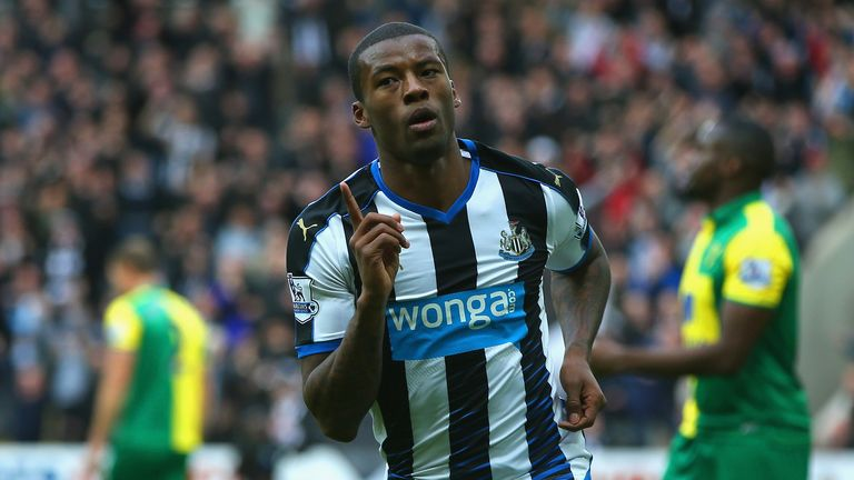Georginio Wijnaldum netted four in Newcastle's last meeting with Norwich
