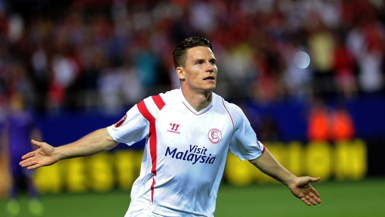 Sevilla's French forward Kevin Gameiro scored twice in the second half