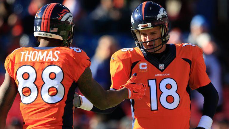 Demaryius Thomas has made three consecutive Pro Bowls with Peyton Manning throwing him the ball