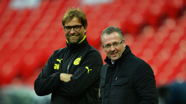 Lambert worked with Jurgen Klopp for a short spell after leaving Villa