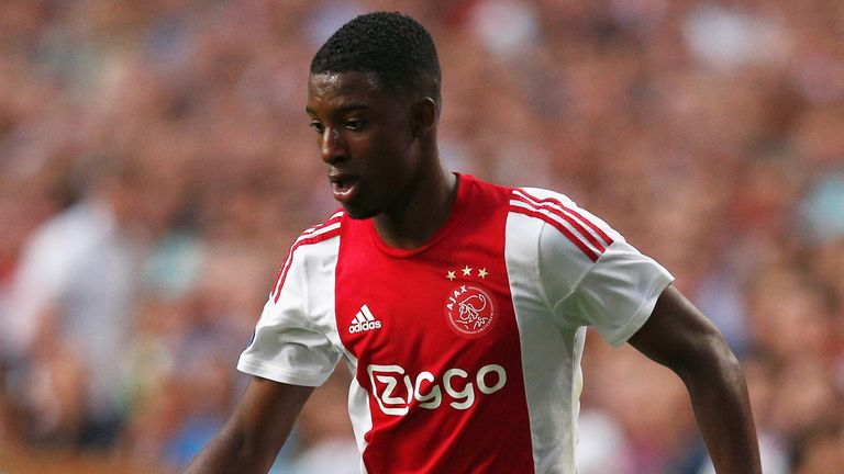 Riechedly Bazoer of Ajax in action