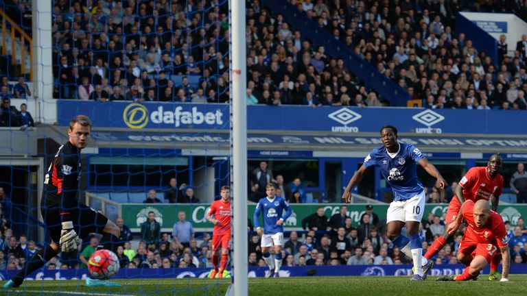 Everton's Romelu Lukaku levels the score in first-half injury time