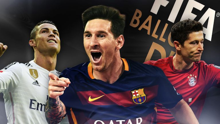 Cristiano Ronaldo, Lionel Messi and Bayern Munich's Robert Lewandowski are in contention for the 2015 Ballon d'Or