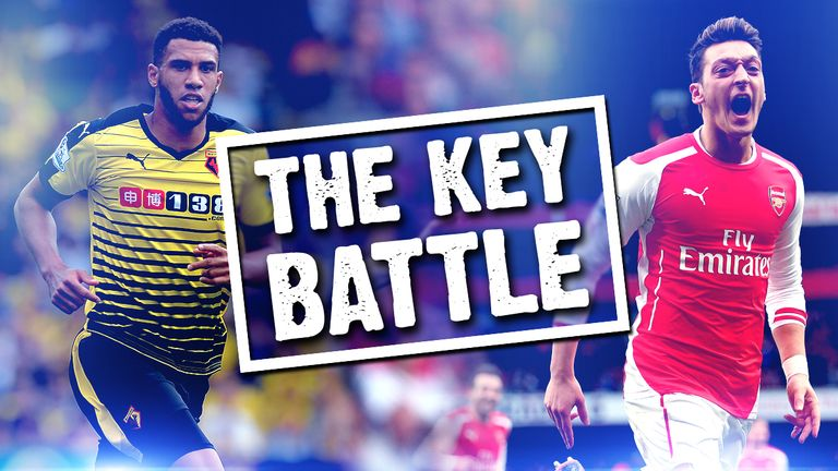 mesut ozil v etienne capoue  the key battle in watford v