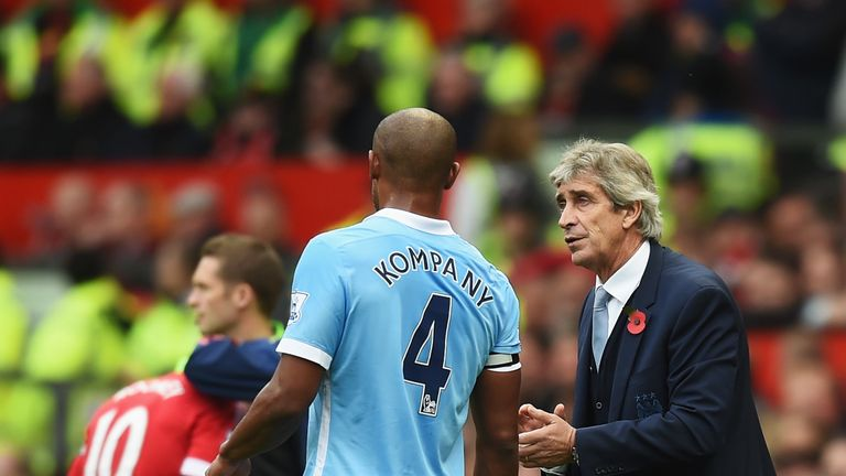 Vincent Kompany returned to City's starting XI against United