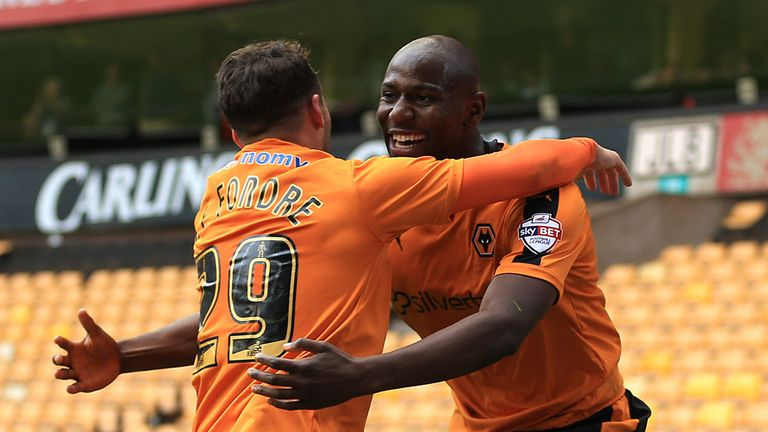 Wolves boss Kenny Jackett has warned suitors off £15m-rated Benik Afobe (right)