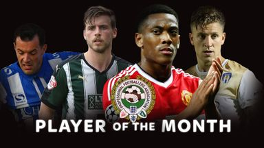 The August/September Player of the Month winners have been announced (left-right): Ross Wallace, Graham Carey, Anthony Martial and George Moncur