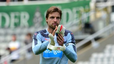 Tim Krul will not play for Newcastle again this season after suffering a knee injury on international duty