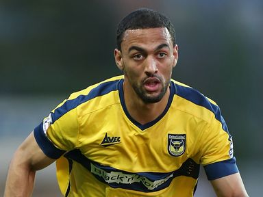 Kemar Roofe hit the bar for Leeds