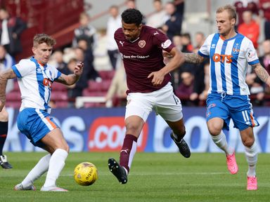 Hearts' Osman Sow surges forward
