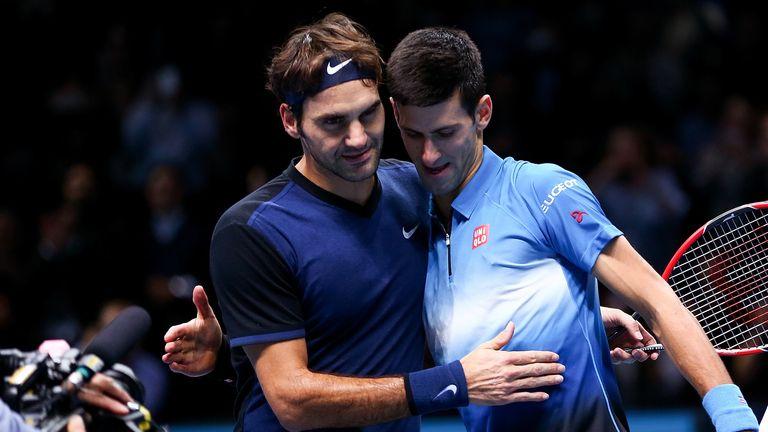 Image result for Novak Djokovic with Roger Federer
