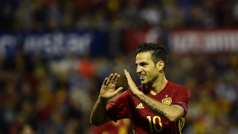 Cesc Fabregas played alongside team-mate Cesar Azpilicueta on Thursday against Italy