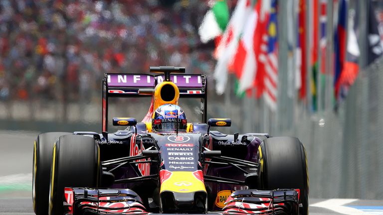Daniel Ricciardo's RB11 will be back with the older-spec Renault engine this weekend