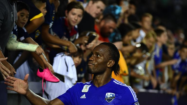 Drogba scored 11 goals in his first 11 MLS games with the Impact