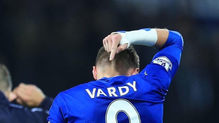 Premier League top scorer Jamie Vardy faces Manchester United on Saturday