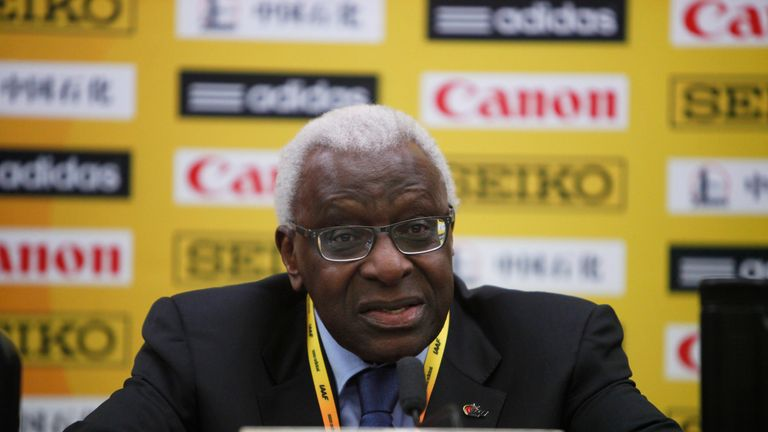 Lamine Diack spent 16 years as president of the IAAF