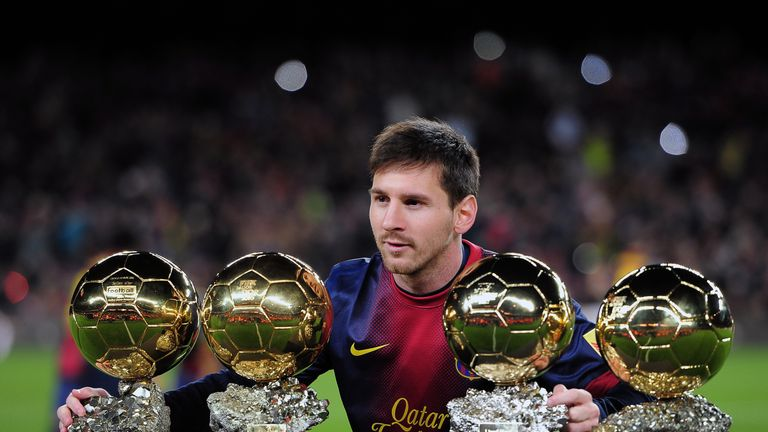 Messi is a four-time Ballon d'Or winner but has not won since 2012