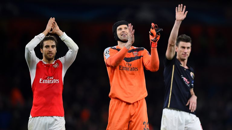 Petr Cech has been a vital influence in Arsenal's dressing room, according to Theo Walcott