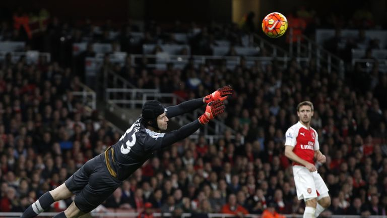 Arsenal goalkeeper Petr Cech has made 66 saves in 2015/16