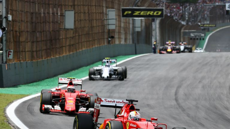 Sebastian Vettel and Kimi Raikkonen finished third and fourth in the Brazilian GP