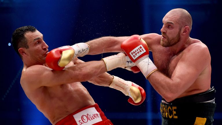 Wladimir Klitschko's (left) team have been branded 'cheats' by Tyson Fury