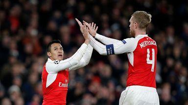 Alexis Sanchez scored twice as Arsenal beat Dinamo Zagreb