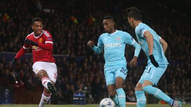 Anthony Martial of Manchester United in action