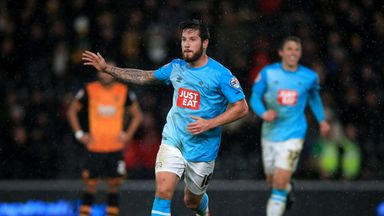 Jacob Butterfield celebrates the first of his two Derby goals in a 2-0 win at Hull