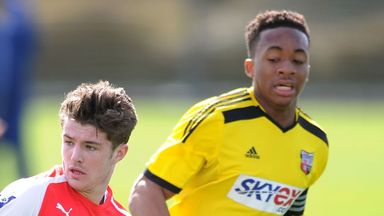 Jermaine Udumaga (r): Has joined Wycombe on loan