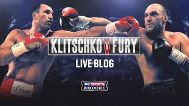 Wladimir Klitschko (L) defends his belts against Tyson Fury