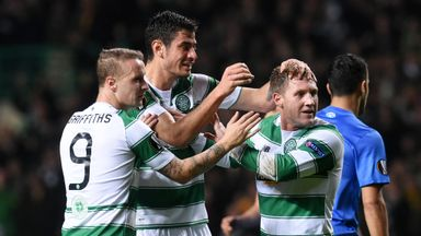 Leigh Griffiths (left) says Celtic have to cope with absences against Ajax, including Kris Commons (right) and Nir Bitton