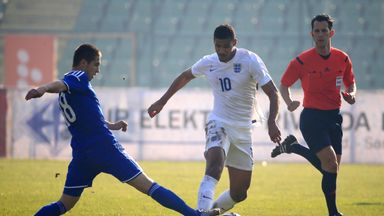 Ruben Loftus-Cheek (centre) in action against Bosnia