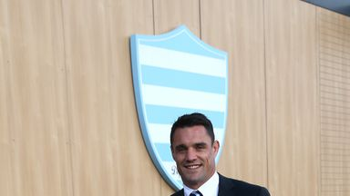 Dan Carter was unveiled as a Racing 92 player on Friday