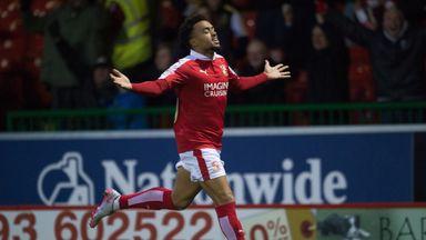 Swindon Town's Nicky Ajose celebrates