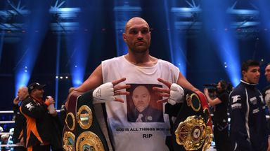 Tyson Fury has won the heavyweight championships of the world