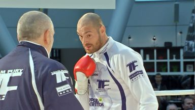 Tyson Fury and his camp want the surface of the Esprit Arena ring changed
