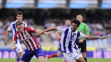 Real Sociedad's Mexican forward Carlos Vela in action.