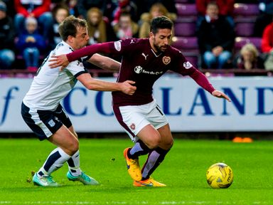 Miguel Pallardo gets away from Paul McGowan