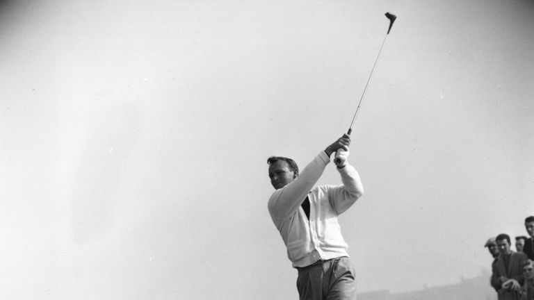 Defending champion Arnold Palmer cruised to a six-shot win in The Open at Royal Troon in 1962