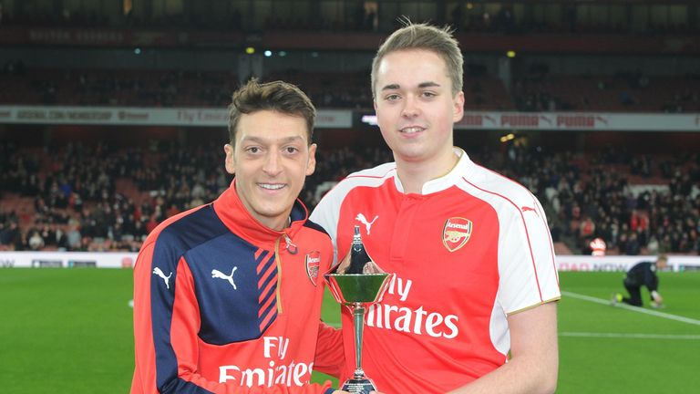 Ozil also won the PFA Fans' Player of the Month for November