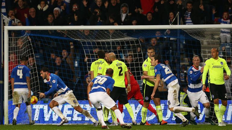 Charlie Austin equalises late on for QPR against Brighton