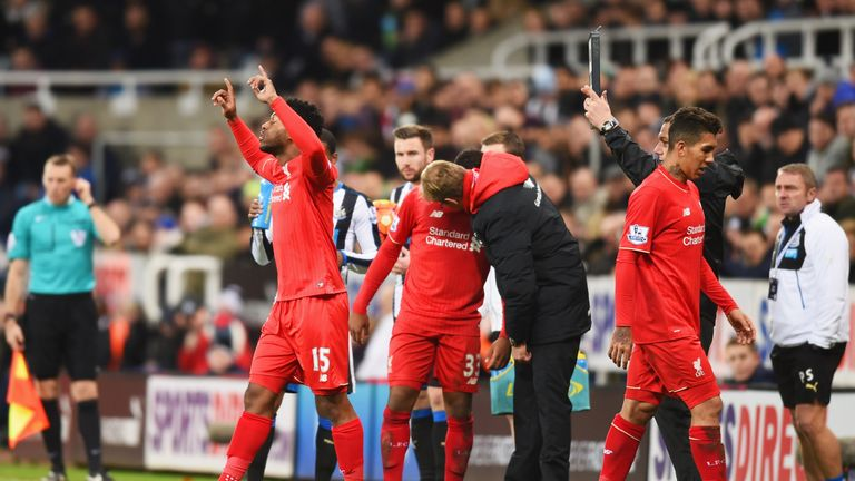 Daniel Sturridge came off the bench at Newcastle - only to suffer another injury