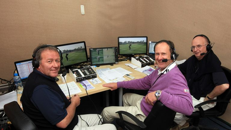 Ewen with Roey and the Colonel in the commentary booth in Abu Dhabi