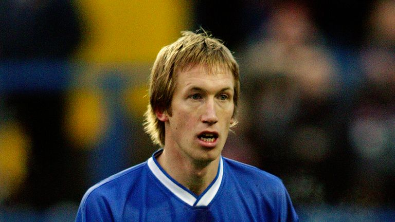 Graham Potter in action for Macclesfield Town during his playing career