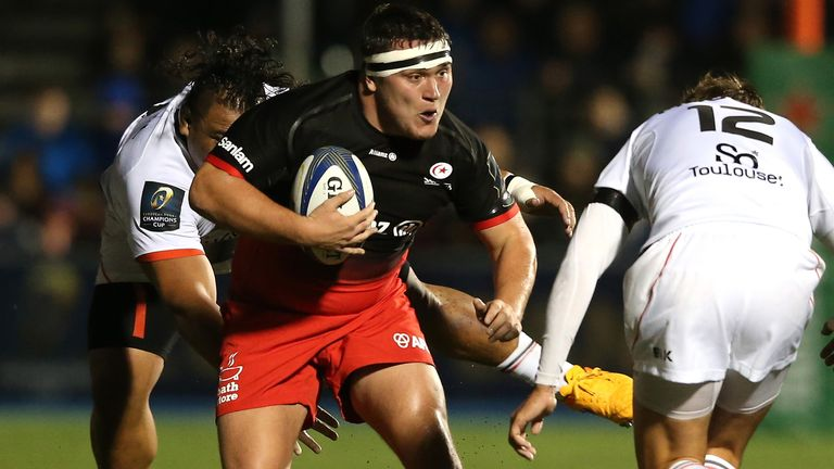 Jamie George on the attack for Sarries