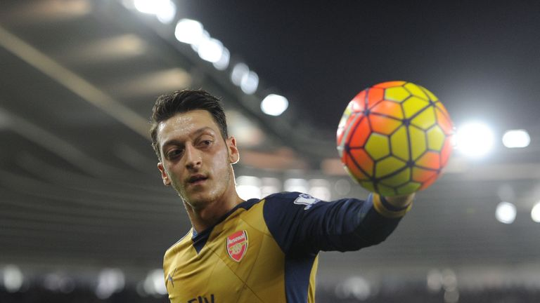 Mesut Ozil topped the poll to win the PFA Fans' Palyer of the Month for December